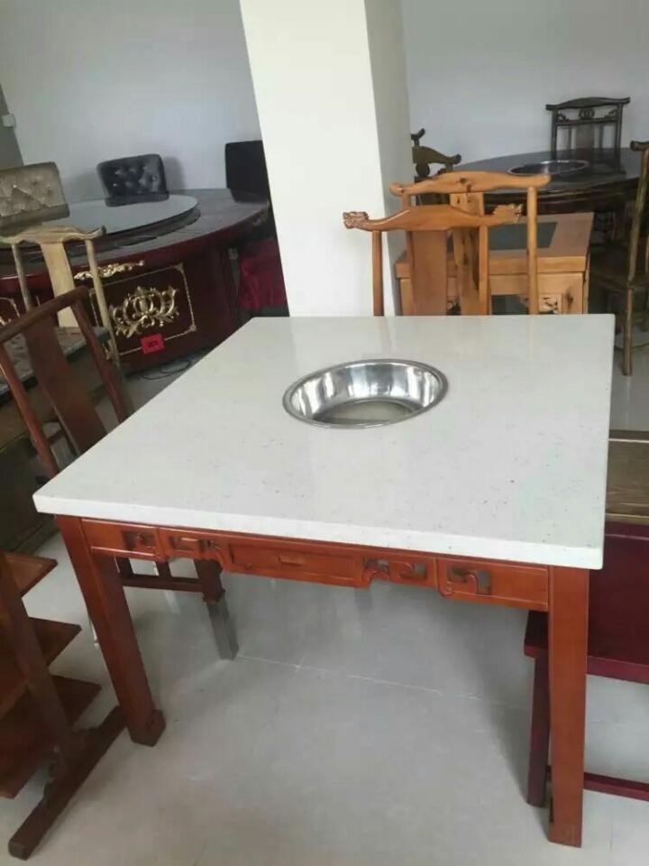 大理石面火锅桌
